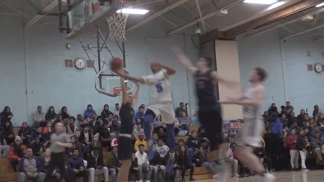 Video: Saunders over Byram Hills in basketball action