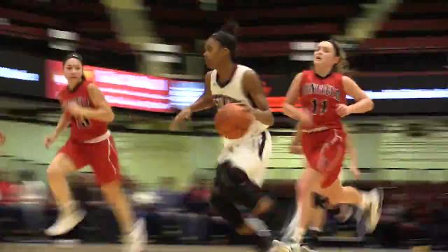 Video: Ossining girls lose to Penfield in OT at Slam Dunk basketball