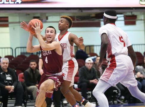 Video: Ossining boys defeat Sleepy Hollow 50-26 in the Slam Dunk Tournament