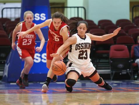 Video: Ossining girls defeat North Rockland 84-46 in the Slam Dunk Tournament consolation game
