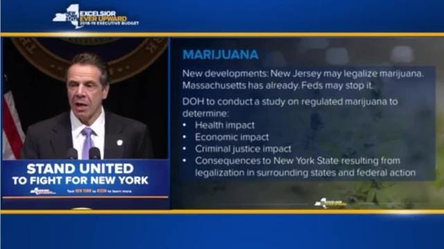 New York to study marijuana legalization, Andrew Cuomo says