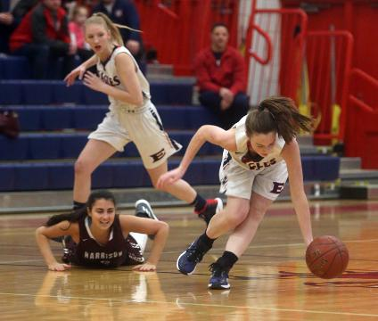 Video: Eastchester holds on to defeat Harrison in girls hoops