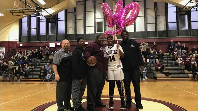 Video: Ossining's Kailah Harris scores 1,000th career point