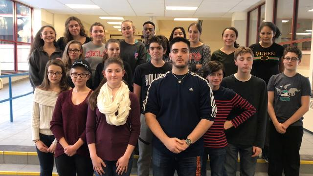 "The cast of ""The Addams Famiily"" at White Plains High School sends a musical shoutout to Rye Country Day's ""Pippin,"" on stage at White Plains PAC at 7:30 p.m., Feb. 9, 10; 2 p.m., Feb. 11; $20; 914-328-1600 ext. 13"