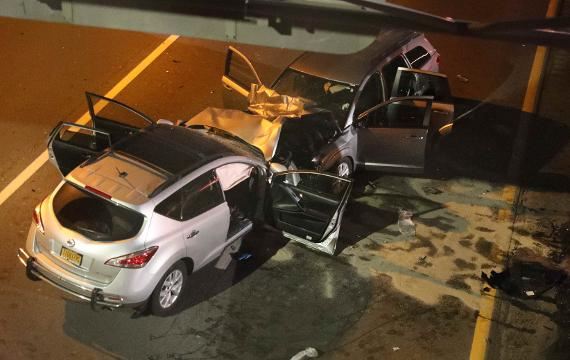 Video: Wrong way driver crash in Yonkers