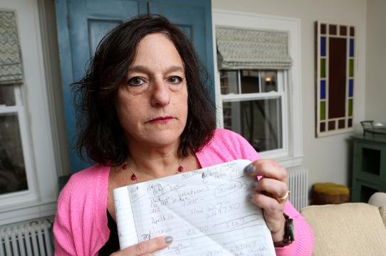 Janet Berg of Ossining has been fighting E-ZPass and cashless tolling for a dozen years. She talks about her experience and having to take out $5K from her IRA to pay her debt in tolls and fines Feb. 6, 2018.