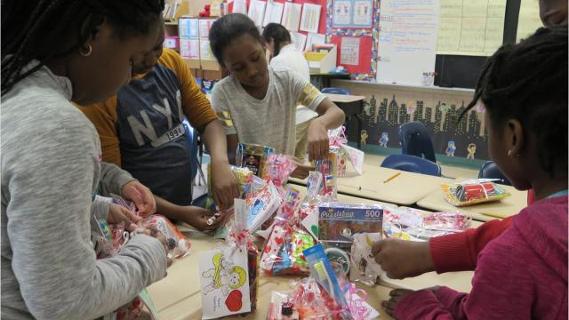 For 15 years, the students at East Ramapo's Elmwood Elementary School have collected items and made cards for 'Valentines for Vets.' The program teaches civics, history and gratitude. Video by Nancy Cutler/lohud