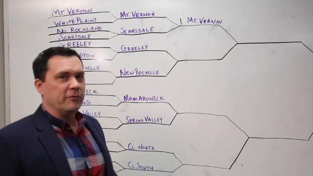 Sports reporter Josh Thomson gives his picks for the Section 1 Class AA boys basketball tournament Feb. 14, 2018.