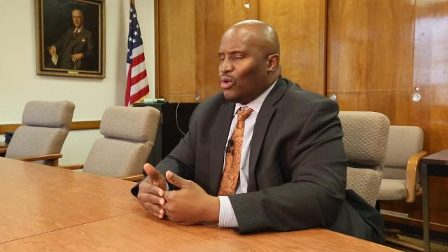 Jonathan Brice at the City School District of New Rochelle offices, after he visited some schools in the district Thursday, Feb. 15, 2018. He is the head of an independent task force being formed to study school security in the city school district.