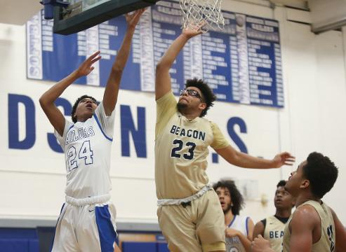 Boys Basketball - Hen Hud defeats Beacon 64-44 in Class A section playoff game