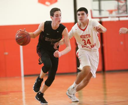 Game highlights of Scarsdale's 63-42 win over North Rockland in the opening round of the Class AA playoffs.