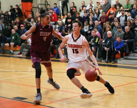 Game highlights of Mamaroneck's 74-55 win over Ossining in the opening round of Class AA Playoffs.