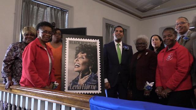 Raw video of the United States Postal Service unveiling of the Lena Horne Forever stamp in Mount Vernon.  Ricky Flores/lohud