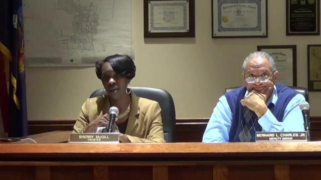 Mayor Alan Simon cursed out Trustee Sherry McGill before a meeting on Wednesday, as she later said publicly.