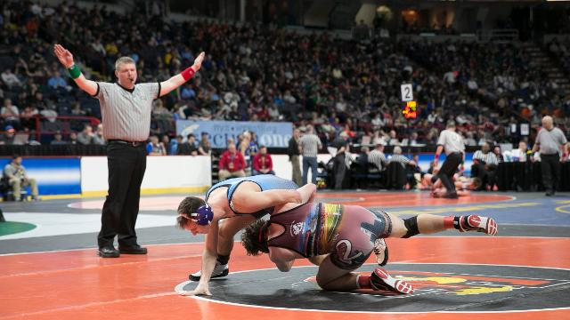 Highlights of day 1 of the state wrestling championships.