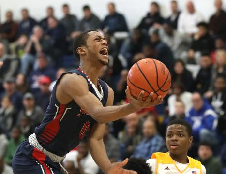 Archbishop Stepinac celebrate their win during the championship game against Cardinal Hayes, at the Class AA New York Sectional Final at Mount St. Michael Academy in the Bronx, Feb. 24, 2018.