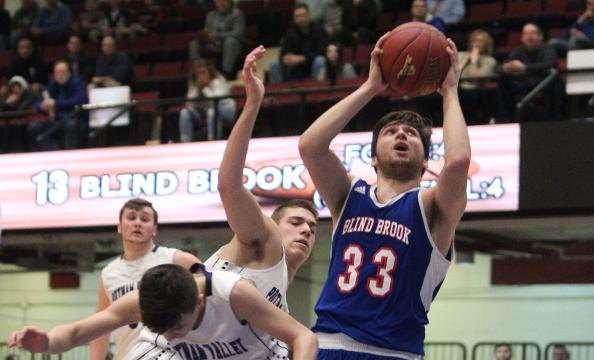 Video: Blind Brook wins boys basketball semi over Putnam Valley
