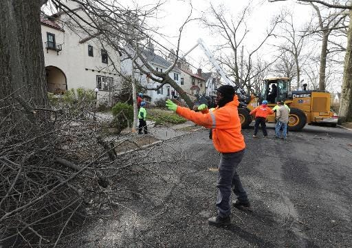Video: Tree removed from Mount Vernon home