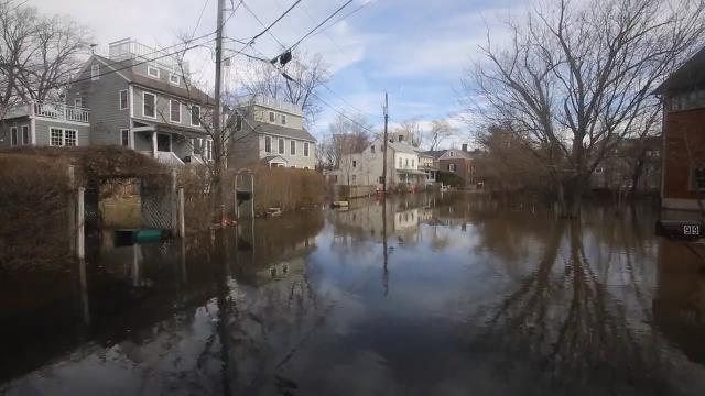 Video: Nor'easter floods Piermont neighborhood