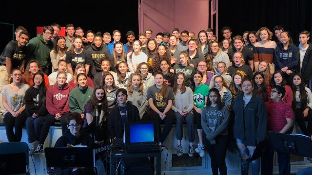 "The cast of ""Bye Bye Birdie"" at Nanuet sends a musical shoutout to the cast of ""The Sound of Music"" at Pleasantville."