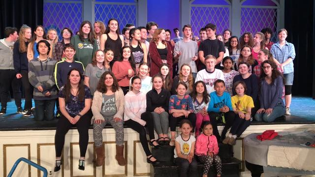 "The cast of ""The Sound of Music"" at Pleasantville sends a musical shoutout to the cast of ""The Drowsy Chaperone"" at Tappan Zee."