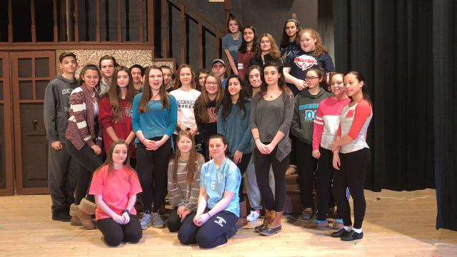 "The cast of ""The Addams Family"" at Kennedy Catholic sends a musical shoutout to ""Footloose"" at Croton-Harmon."