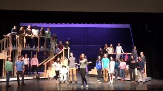 "The cast of ""Lucky Stiff"" at North Salem sends a musical shoutout to North Rockland's ""The Pajama Game."""