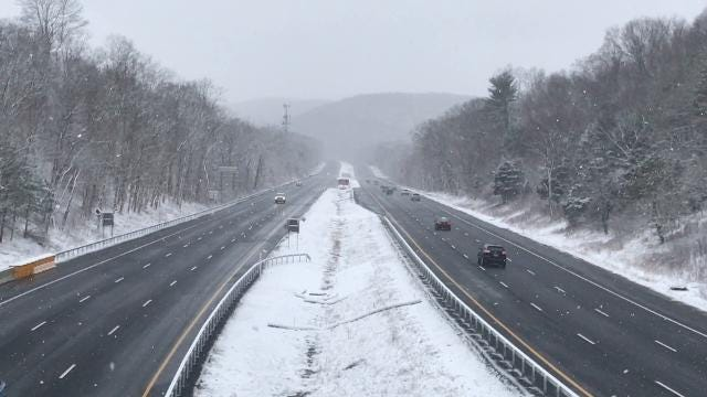 Video: 684 morning commute during a snowstorm