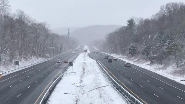 Video: Morning commute in the  March 7 snowstorm