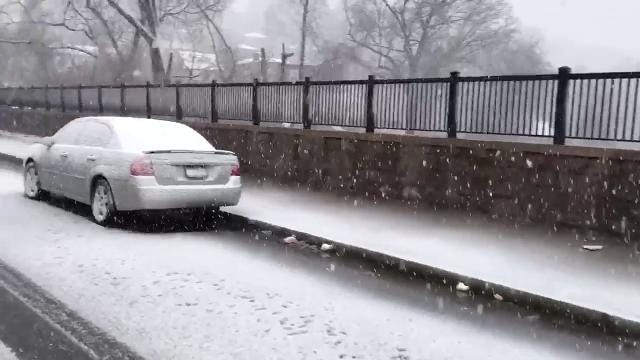 Video: McLean Ave as the snow starts to fall