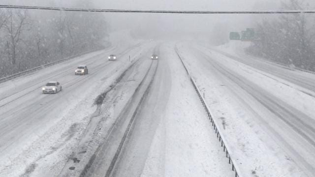 Video: Nor'easter slows I-684 traffic