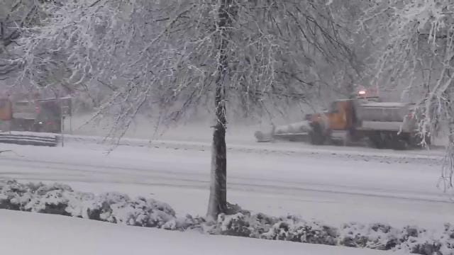 Video: Route 59 drivers plow through snow
