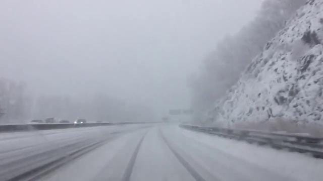 Video: Driving I-87 in the snow