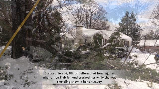Video: Tree limb kills Suffern resident