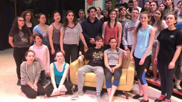 "The cast of Briarcliff's ""How to Succeed in Business without Really Trying"" sends a musical shoutout to Blind Brook's ""Shrek."""