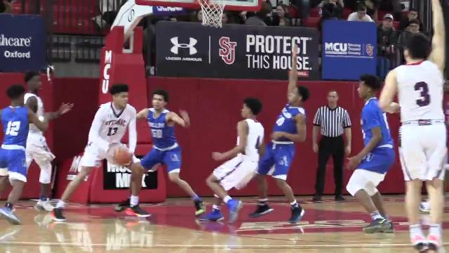 Stepinac beat Molloy 88-84 in a CHSAA semifinal at St. John's University Thursday, March 8, 2018.