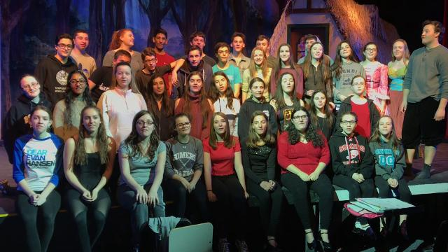 "The cast of ""Beauty and the Beast"" at Somers sends a musical shoutout to Haldane's ""Les Miserables."""