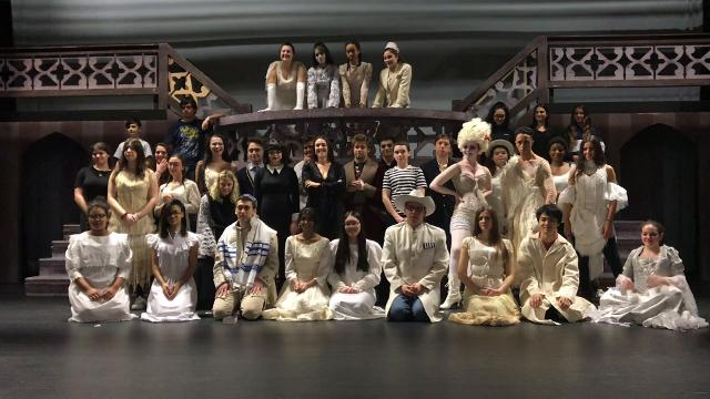 Ardsley's ADDAMS FAMILY sends a musical shoutout to Peekskill's BEAUTY AND THE BEAST.