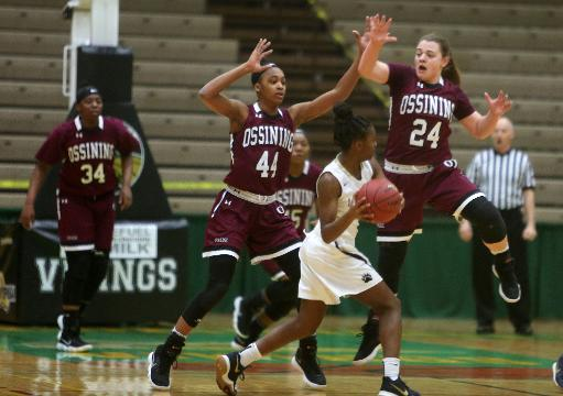 Baldwin defeated Ossining in the state basketball girls Class A championship game at Hudson Valley Community College in Troy March 18, 2018. Frank Becerra Jr./Lohud