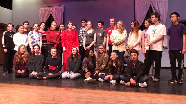 The cast of Tappan Zee's THE DROWSY CHAPERONE sends a shoutout to Rockland Country Day's ONCE UPON A MATTRESS.