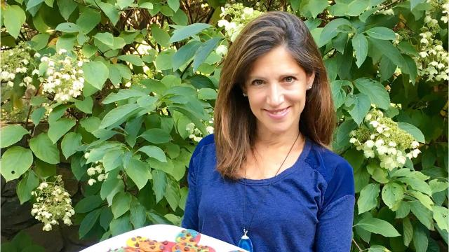 Scarsdale entrepreneur has found a rainbow of success with her tie-dyed cookies. Video by Jeanne Muchnick/lohud.