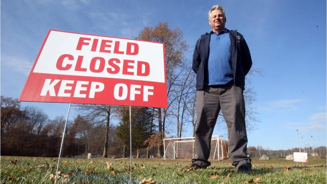 """A New City man has filed a lawsuit against Ed Day and Rockland County alleging he was improperly booted off a field at a county park before his annual """"Turkey Bowl"""" last November."""