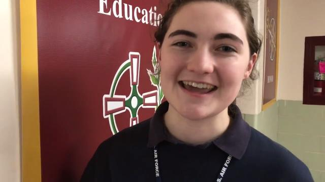 "Olivia Ross, who plays Fiona in Iona Prep's ""Shrek"" (and played Darbus in Ursuline's ""High School Musical"") sends a musical shoutout to Sacred Heart's ""Footloose."""