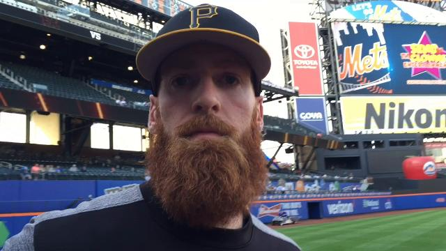 Former Iona Prep star Colin Moran returned to New York as a member of the Pittsburgh Pirates. He met with a group of his fans from Iona Prep.