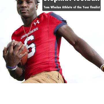 Stepinac football star Trill Williams is a finalist for the 2017-18 Tom Whelan Athlete of the Year award.