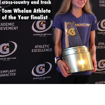 North Rockland track star Katelyn Tuohy is a finalist for the 2017-18 Tom Whelan Athlete of the Year award.