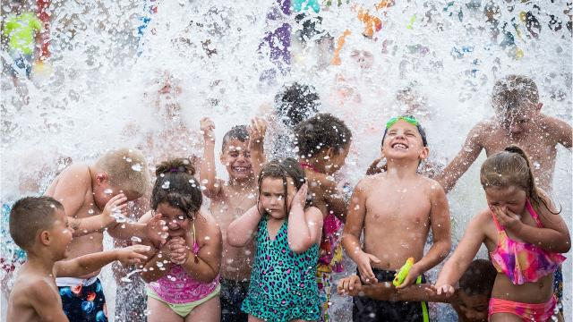 Splash pads and spray parks are the hot summer attraction for the kiddos