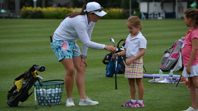 Nearly 100 girls participated in theMWGA's Girls to the Tee clinic at Westchester Country Club.