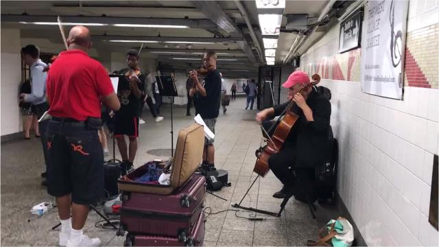 The West Village Quartet performs in Grand Central