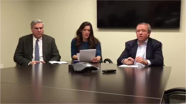 Representatives of the Business Council of Westchester, AAA, and TRIP, a national transportation research group, meet in Rye Brook on Nov. 14, 2018, to discuss poor road conditions in New York. (Video by Matt Spillane/lohud)